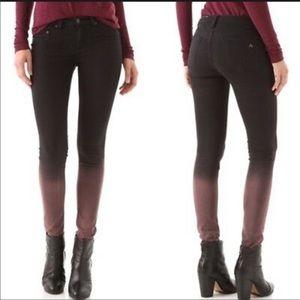 Rag and bone rusted ombré skinny leggings pants 26